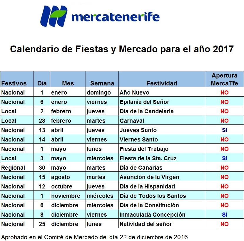 Mercatenerife calendario-mercado-2017