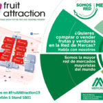 Mercasa promociona en Fruit Attraction 2019 la oferta de frutas y verduras de la Red de Mercas